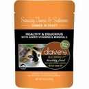Dave's Pet Food Healthy Tuna Salmon 2.8oz Pch Canned Cat Food
