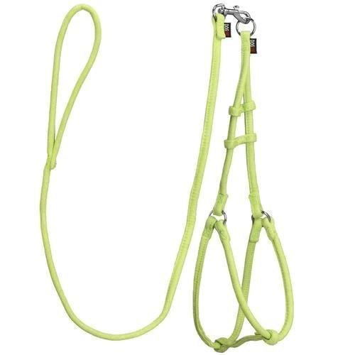 "Dogline Comfort Microfiber Round Stepin Harness & Lead Medium Green W1/3"" L4'"