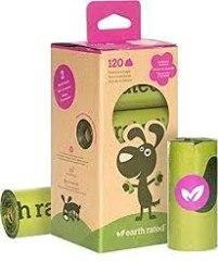Earth Rated Poop Bags Biodegradable 8 Rolls Lavender Scent - Paw Naturals