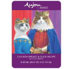 Rawz Aujou Cat Food Pouch 2.64oz Chicken & Duck - Paw Naturals