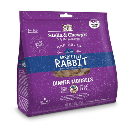 Stella & Chewy's Absolutely Rabbit Meal Mixers 3.5oz Raw Freeze-Dried Cat Food - Paw Naturals