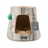 Nandog Pet Gear Tree Stump Cozy Cave Pet Bed - Paw Naturals