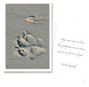Dog Speak Paw Prints Sympathy Card - Paw Naturals