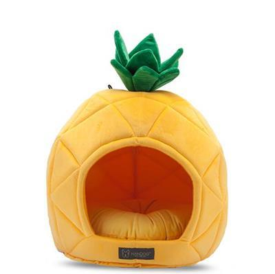 Nandog Pet Gear Pineapple Cozy Cave Pet Bed - Paw Naturals
