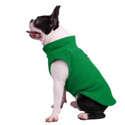 Sparky & Co Fleece Vest + Harness Combo Winter Coat Green / Small - Paw Naturals