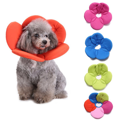 Sparky & Co Pet Flower Elizabethan Recovery Collar Soft Cone Anti-bite E-Collar For Dogs & Cats - Paw Naturals