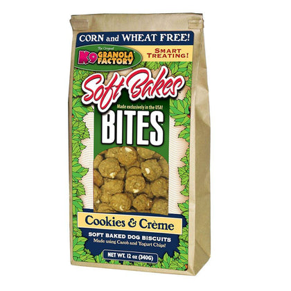 K9 Granola Factory Soft Bakes Bites Dog Biscuit Cookies & Cream - Paw Naturals