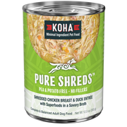 Koha Pure Shreds Shredded Chicken & Duck Entrée 12.5oz Canned Dog Food