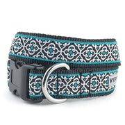 The Worthy Dog Knightsbridge Teal Collar & Lead Collection XS Dog Collar - Paw Naturals