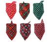 Sparky & Co Plaid w/ Snowflakes Holiday Bandanas