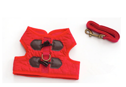 Sparky & Co Dapper Harness & Leash Set Red / Small - Paw Naturals