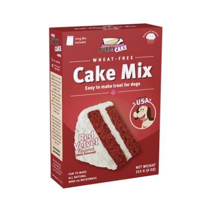 Puppy Cake Wheat Free Red Velvet Flavor Cake Mix - Paw Naturals