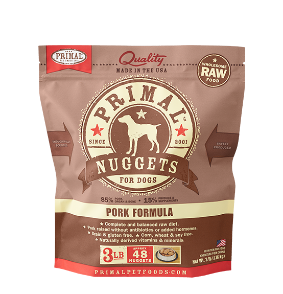 Primal Pork Raw Frozen Dog Food