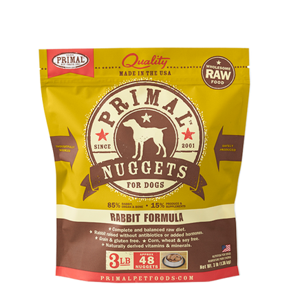 Primal Rabbit Raw Frozen Dog Food