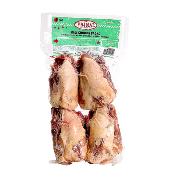 Primal Raw Meaty Bones Chicken Backs 4ct