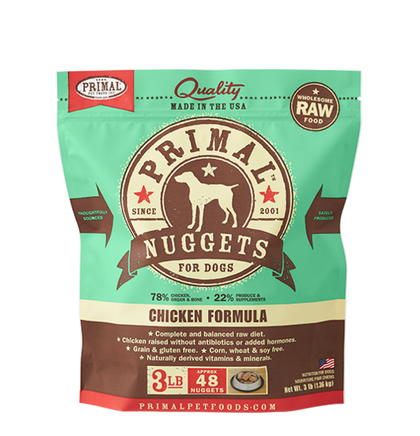 Primal Chicken Raw Frozen Dog Food - Paw Naturals