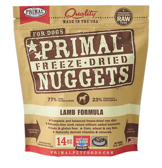 Primal Freeze-Dried Dog Food Lamb