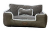 Sparky & Co Couch-Style Bed With Bolsters & Bone-Shaped Pillow Grey - Paw Naturals