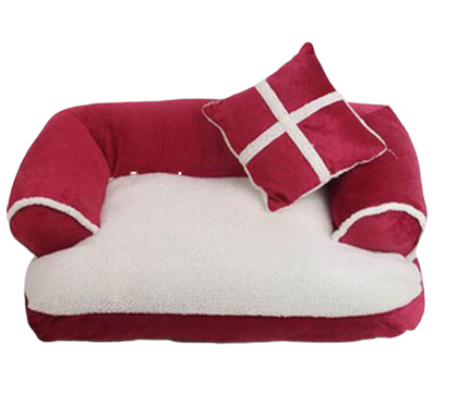Sparky & Co Couch-Style Bed With Bolsters & Pillow Red - Paw Naturals