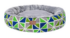 Sparky & Co Fleece-Lined Round Cuddle Bed In Bright Prints Green Geometric - Paw Naturals