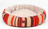 Sparky & Co Fleece-Lined Round Cuddle Bed In Bright Prints Red Stripe - Paw Naturals