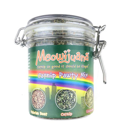 Meowijuana Jar of Pawty Mix Catnip - Paw Naturals