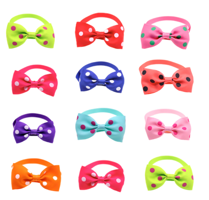 Sparky & Co Summer Couture Preppy Polka Dot Bowtie Collar Charm (Assorted Collars) - Paw Naturals
