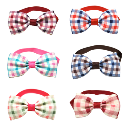 Sparky & Co Summer Couture Preppy Plaid Bowtie Collar Charm (Assorted Collars) - Paw Naturals