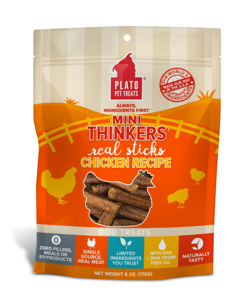 Plato Mini Thinkers Real Meat Sticks Dog Treat