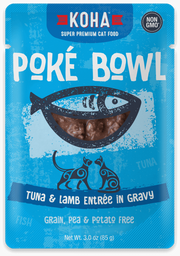 Koha Poke Bowl Entree in Gravy 2.8oz Cat Pouches