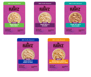 Rawz Shredded Cat Food Pouches 2.46oz