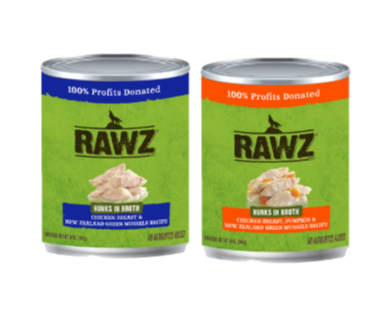 Rawz Hunks Recipe Canned Dog Food 14oz