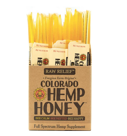 Colorado Hemp Honey Sticks Natural Raw Full-Spectrum CBD 10pk - Paw Naturals