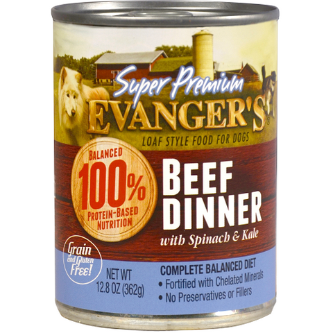 Evanger's Super Premium Beef Dinner 12.8oz Canned Dog Food