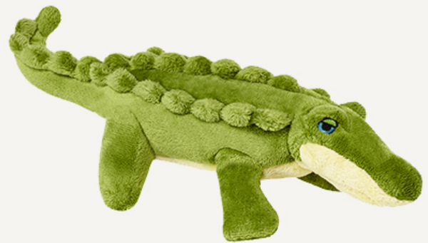 "Fluff & Tuff Savannah Baby Gator 7"" Dog Toy"