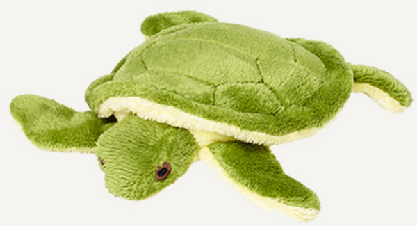 "Fluff & Tuff Shelly Turtle 4"" Dog Toy"