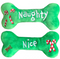 Lulubelles Naughty & Nice Bone (embroidered two sides) Holiday Plush Toy