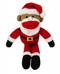 "Lulubelles 11"" Holiday Sock Monkey Fred Santa Holiday Plush Toy"