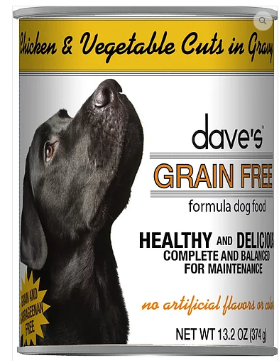 Dave's Pet Food Grain-Free Chicken Vegetable 13.2oz Canned Dog Food