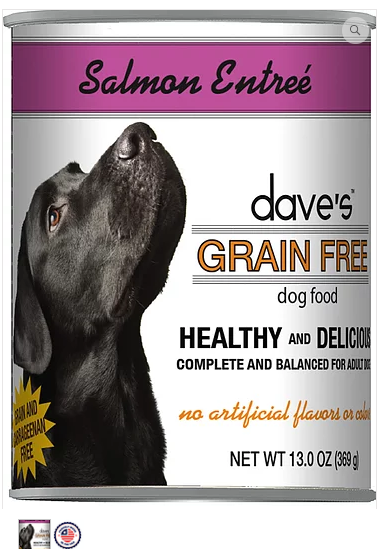 Dave's Pet Food Grain-Free Salmon 13oz Canned Dog Food