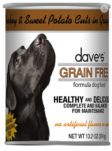 Dave's Pet Food Grain-Free Turkey Sweet Potato 13.2oz Canned Dog Food