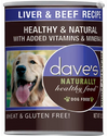 Dave's Pet Food Naturally Healthy Liver Beef 13oz Canned Dog Food - Paw Naturals
