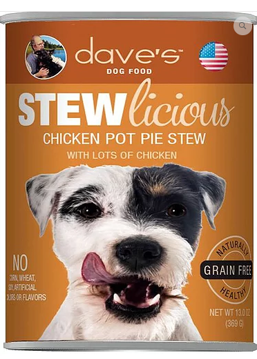 Dave's Pet Food Stewlicious Grain-Free Chicken Pot Pie 13oz Canned Dog Food