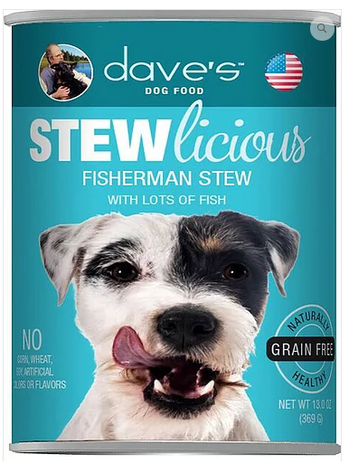 Dave's Pet Food Stewlicious Grain-Free Fisherman 13oz Canned Dog Food