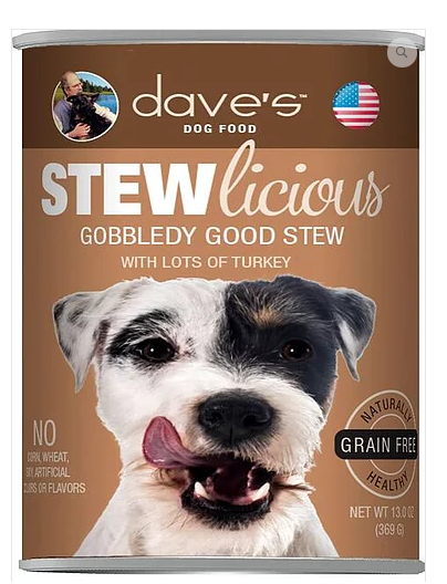 Dave's Pet Food Stewlicious Grain-Free Gobbledy Good 13oz Canned Dog Food
