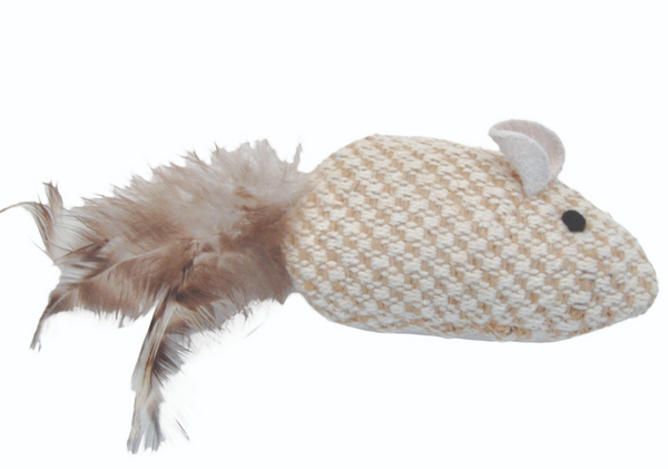 "Coastal Pet Turbo Natural Mouse 3.75"" Cat Toy"