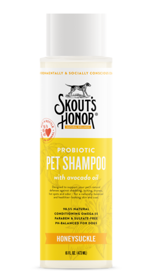Skout's Honor Probiotic Shampoo Honeysuckle 16oz