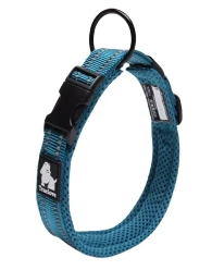 Sparky & Co Soft Padded Mesh 3m Reflective Dog Collar Turquoise / XSmall - Paw Naturals