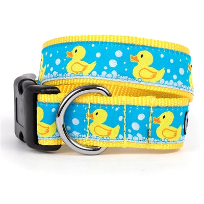 The Worthy Dog Rubber Duck Collar & Lead Collection XL Dog Collar - Paw Naturals