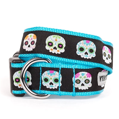 The Worthy Dog Skeletons Collar & Lead Collection XL Dog Collar - Paw Naturals